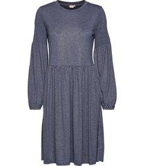 crivana jersey dress knälång klänning blå cream