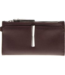 gianni chiarini merlot leather wallet