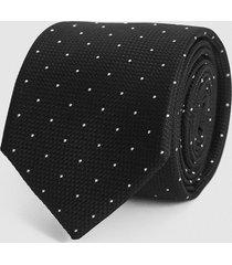 reiss liam - silk polka dot tie in black, mens