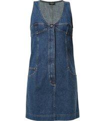 chanel pre-owned denim mini dress - blue
