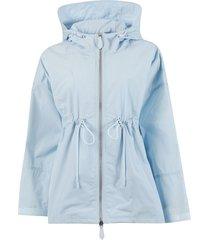 shape-memory lightweight hooded jacket, pale blue