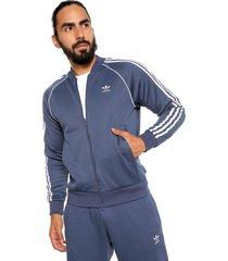 chaqueta azul-blanco adidas originals sst track