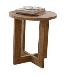 mesa lateral 8002 luxo caramelo madeirado móveis jb bechara