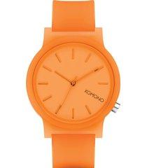 reloj analogo mono neon orange komono