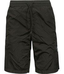 c.p. company drawstring waist side zipped pocket shorts