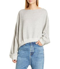 women's r13 patti wide neck sweatshirt
