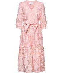 slfsadie 3/4 midi dress b dresses everyday dresses rosa selected femme