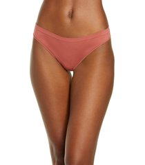 women's b.tempt'd by wacoal comfort intended daywear thong, size large - coral
