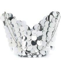 paco rabanne sequins shoulder bag - silver