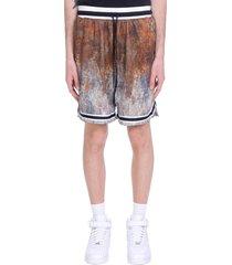 john elliott shorts in brown polyester