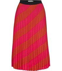 alessiagz skirt ao19 knälång kjol rosa gestuz