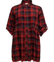 skjortklänning carchicagos 3/4 check dress