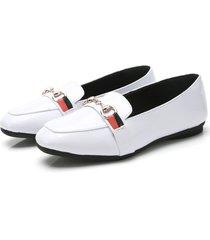zapatos estilo oxford para mujer - blanco