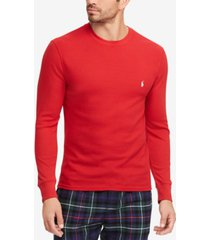 polo ralph lauren men's waffle-knit thermal pajama shirt