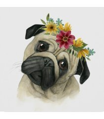 "grace popp flower crown pup i canvas art - 15"" x 20"""