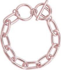sterling forever women's toggle chain bracelet