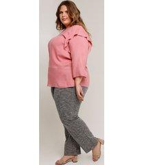 pantalón con textura para tallas grandes gris 14