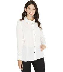 blusa manga larga lisa lorenzo di pontti