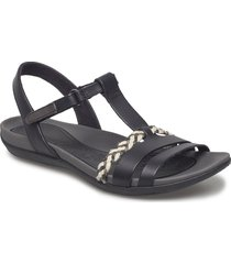 tealite grace shoes summer shoes flat sandals svart clarks