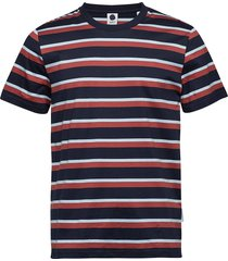 barry stripe tee 3404 t-shirts short-sleeved grå nn07