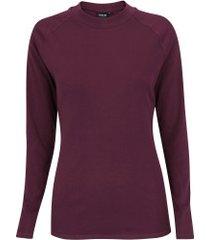 camisa segunda pele manga longa nord outdoor under basic - feminina - vinho