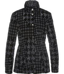 giacca trapuntata con stampa vellutata (nero) - bpc selection