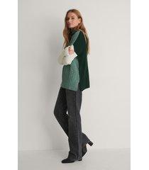 trendyol blockfärgad stickad tröja - green