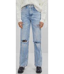 '90s jeans met scheuren