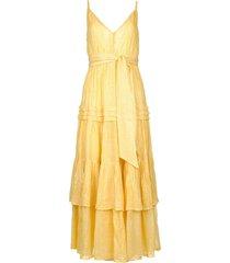 lurex maxi jurk calypso  geel