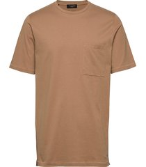 slhloui ss o-neck tee b t-shirts short-sleeved beige selected homme