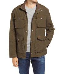 men's rails porter lined field jacket, size small - green