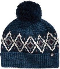 block hats men's marled fair isle cuffed beanie