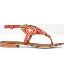 sandali infradito in pelle (rosso) - bodyflirt