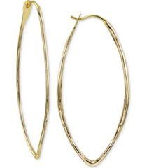 argento vivo hammered oval medium hoop earrings