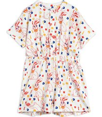 mr rabbit aop summersuit jumpsuit multi/patroon mini rodini