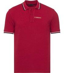brand new mens prada red signature cotton polo shirt