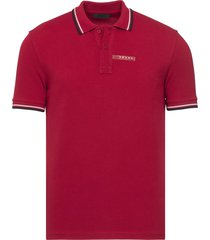 brand new mens prada red signature cotton polo shirt