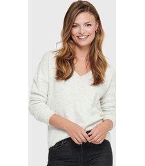 sweater  jacqueline de yong blanco - calce regular