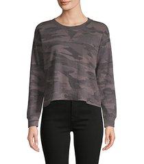 camouflage cotton-blend sweatshirt
