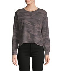camouflage cotton-blend sweatshirt