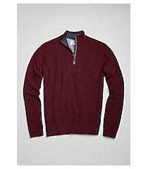 1905 collection textured cotton blend quarter zip men's sweater - big & tall