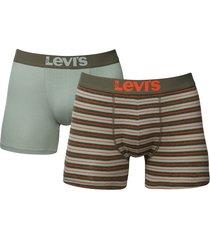 levis boxershort 200sf 2-pak stripe groen