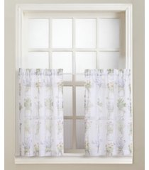 "eve's garden 54"" x 24"" pair of tier curtains"