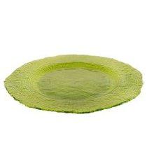 sousplat dunya de vidro 33cm - infinity verde