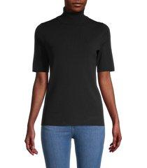 anne klein women's turtleneck top - anne black - size xxs