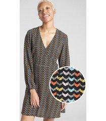 vestido manga larga mujer multicolor gap