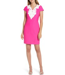 women's eliza j passementerie trim sheath dress