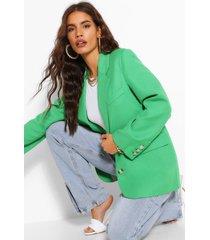 premium woven blazer, green