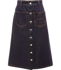 jw anderson a-line patch pocket skirt - blue