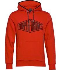 comfy hood hoodie trui rood peak performance
